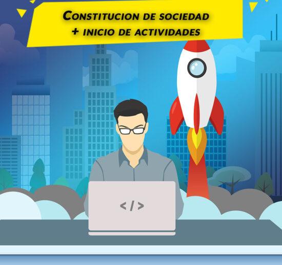 constitucion de sociedad + inicio de actividades